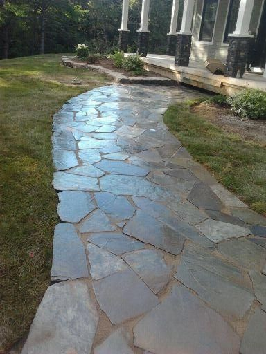 Natural landscaping stone walkways and walkways on pinterest for Natural stone walkways