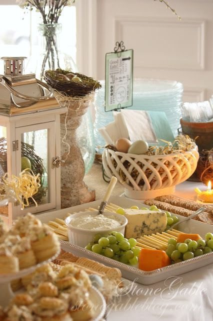 Spring party food buffet shared by stonegable party for Buffet cuisine en pin