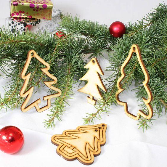 15 Laser Cut \u0027Christmas Tree\u0027 Decorations Polymers, Christmas - wood christmas decorations