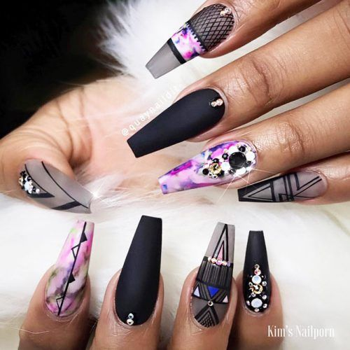 Coffin Nail Designs Update Your Trendy Compilation Glaminati Com Coffin Shape Nails Best Acrylic Nails Nail Designs