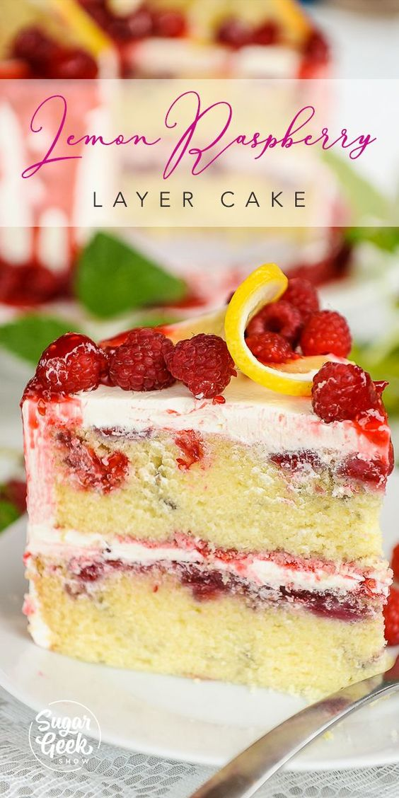 Lemon Raspberry Buttermilk Cake