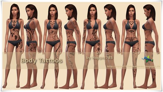 Sims 4 CC's - The Best: Body Tattoos by Hoppel785