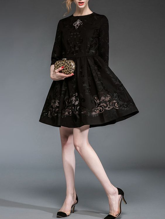 TCG Paneled Lady Mini Dress
