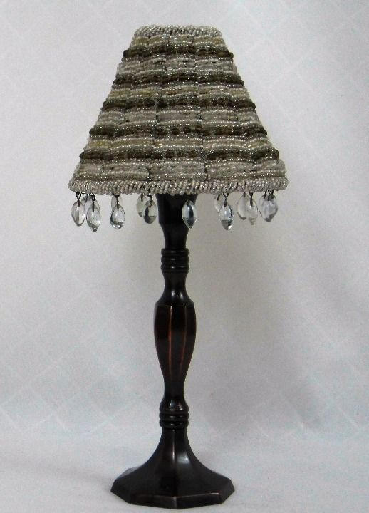 Cool Item Partylite Candle Holder W Beaded Shade Partylite Candle Holders Beaded Lampshade Beaded Lamps