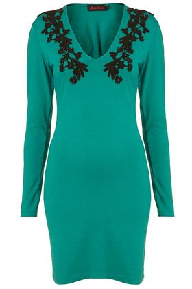 Well, I'd LIKE to be able to wear a bodycon dress, but I'll be content to just wish I could while staring at this dress.