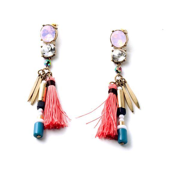 BRIAR - Tassel tribal drop earrings