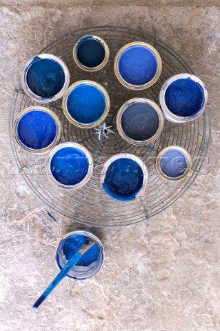 blue paint...
