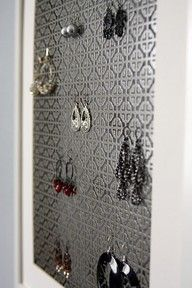 radiator grates to hold earrings