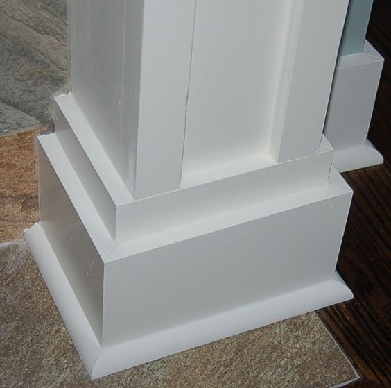 Posts mantels and columns on pinterest for Mission style moulding