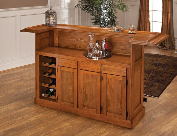 small home bar furniture buy hillsdale classic oak large home bar on sale online cheap home bars furniture
