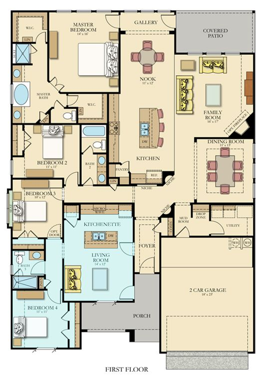 Hilltop Ii Next Gen New Home Plan In Johnson Ranch