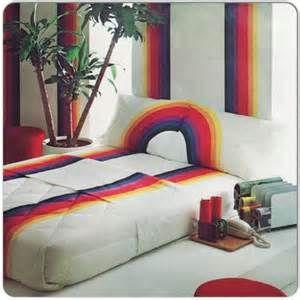 70s rainbow bedding - sheets, pillowcases, comforter