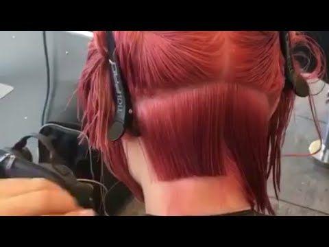 تعليم قص الشعر القصير علي يد امهر المدربين الامريكيين Youtube Hair Styles Hair Beauty