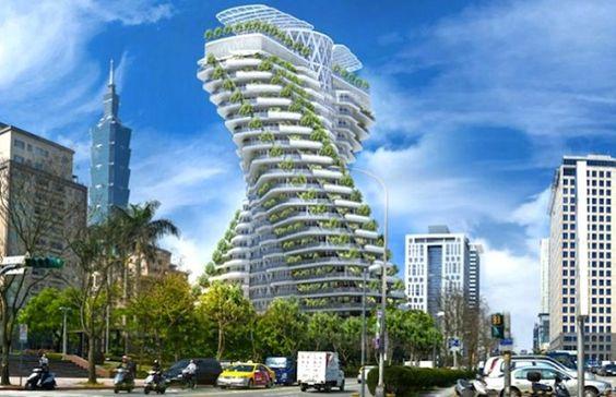 Conheça a torre verde Agora Garden Tower, um arranha-céu sustentável em Taiwan, envolvido por jardins verticais, projetado por Vincent Callebaut. Veja!