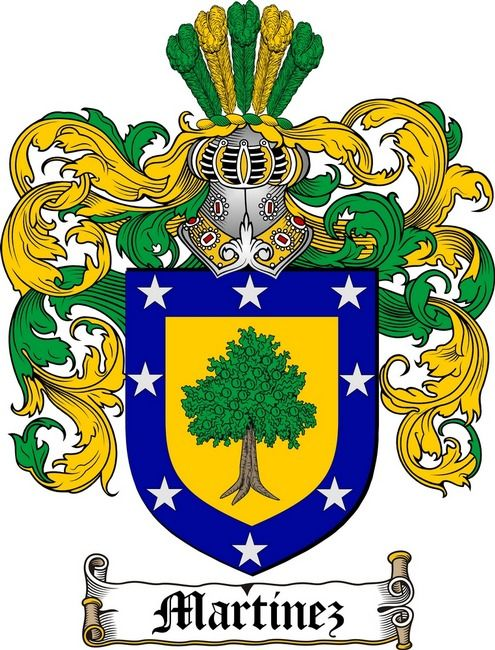 martinez family crest coat of arms gifts at