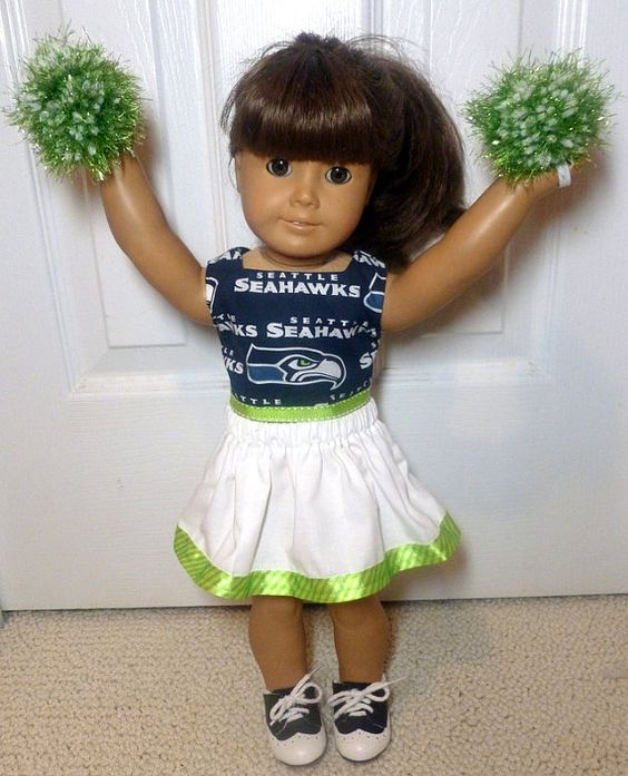 American Girl doll clothes cheerleader Seattle Seahawks 18 ...