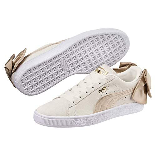 PUMA Women's Suede Bow Varsity Sneaker, Marshmallow Metallic