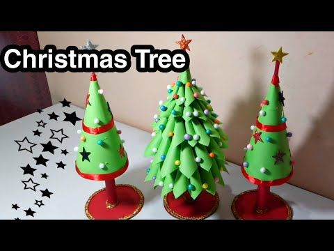 How To Make Christmas Tree Craft With Paper Youtube Christmas Tree Crafts Tree Crafts How To Make Christmas Tree