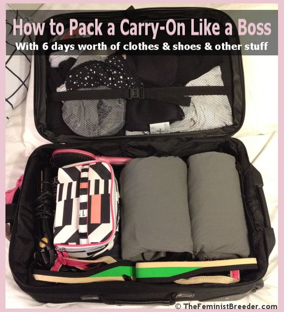 How to Pack a Carryon Like a Boss