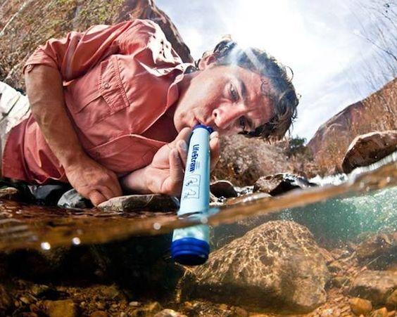 Un filtro de agua de emergencia, para esos casos extremos...
