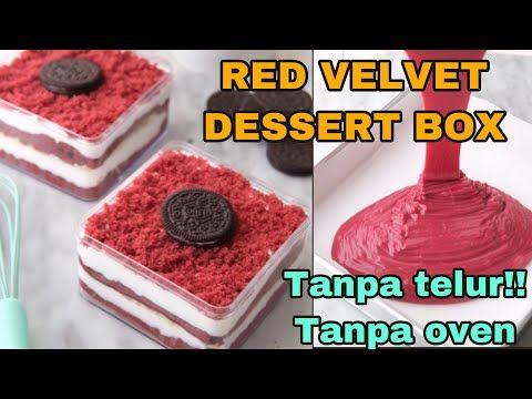Red Velvet Dessert Box Ala Bitter Sweet Najla Versi Anak Kos Youtube Hidangan Penutup Beludru Merah Camilan