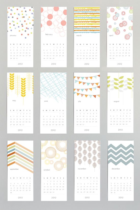 Calendar Party Ideas : Patterned wall calendar graphics design we love