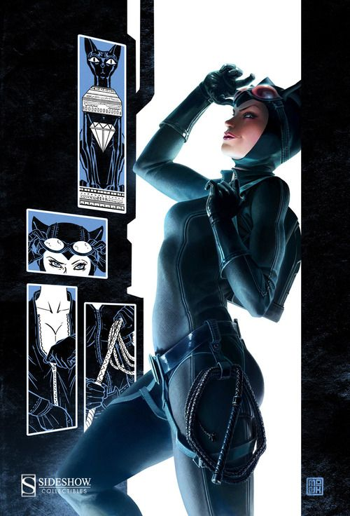 Catwoman Box Art for Sideshow Collectibles' DC 1:6 Scale Line