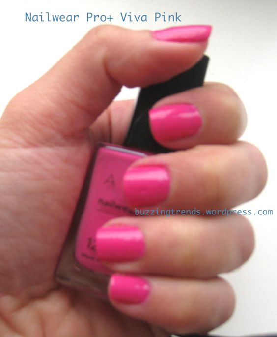 Avon nailwear pro+ viva pink swatch and review