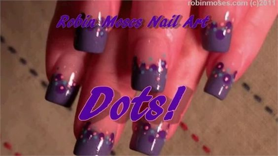 Easy Fun Dotted Nail Art Design by Robin Moses