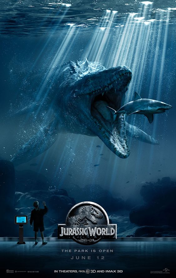 New Poster for 'Jurassic World' Features Mosasaurus — Latino-Review.com