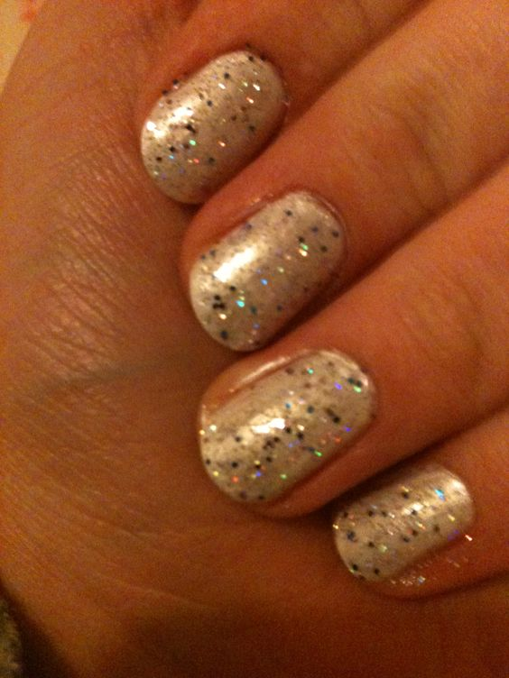 Silver and Rimmel glitter nails! :)