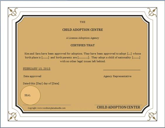 When a child is adopted, an amended birth certificate (ABC) is - blank birth certificate template