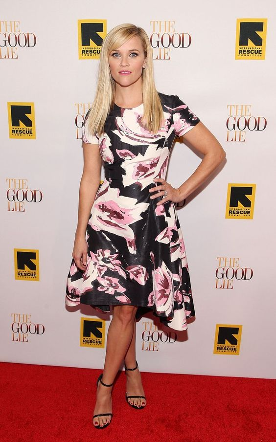 Pin for Later: The Mortals Gave the Models a Run For Their Money This Week Reese Witherspoon Truth time: Reese Witherspoon was at her prettiest in a floral Dior design at the DC premiere of The Good Lie.