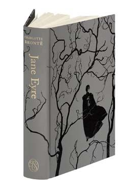 Book cover (The Folio Society) of Jane Eyre by Charlotte Bronte - Introduced by Emma Donoghue + Illustrated by Santiago Caruso #charlottebronte