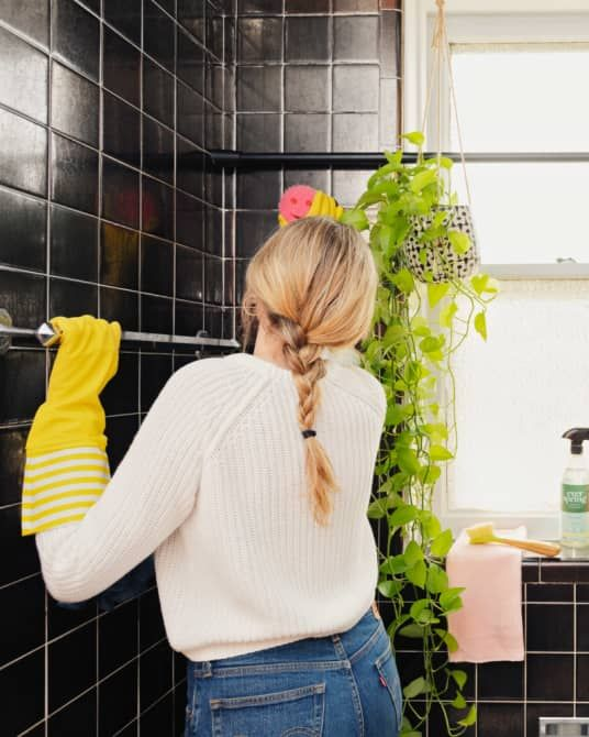 4 Things Making Your Living Room Look Messier Than It Is Bedroom Plants Apartment Therapy Custom Shower Pan