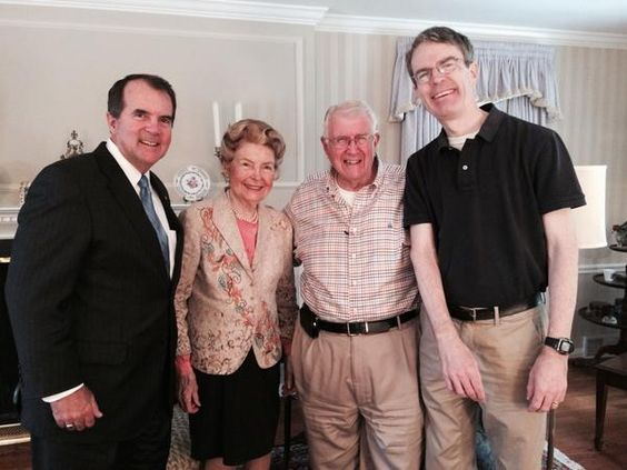 Happy 90th Bday @PhyllisSchlafly & happy 25 yrs of broadcast partnership w/ us, @EagleForum! It was great to visit! @BottRadio