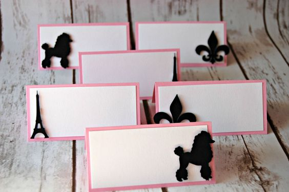 Paris Themed Party Name Tagss (set of 6) - We Bring the Party - 1
