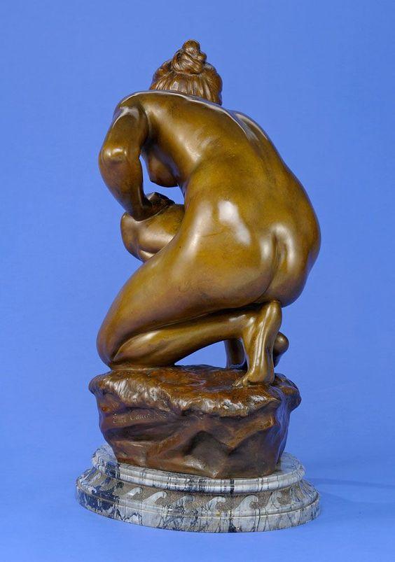 Cauer, Emil 1867 Bad Kreuznach - 1946 Gerstfeld Wasserschöpferin. Bronze. Signiert und datiert 19 — Skulpturen, Möbel, Kunsthandwerk