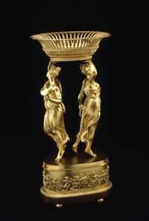 - White House Entertaining -- This gilt-and-brass basket, part of a table plateau or centerpiece, is believed to have belonged to Louisa Catherine Adams.