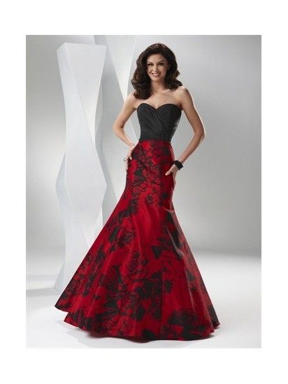 Quinceanera Red/Black Prom Dresses Party Ball Gown P1200021: