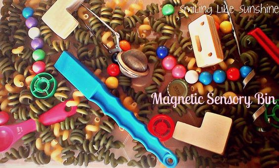 Smiling like Sunshine: Magnetic Sensory Bin