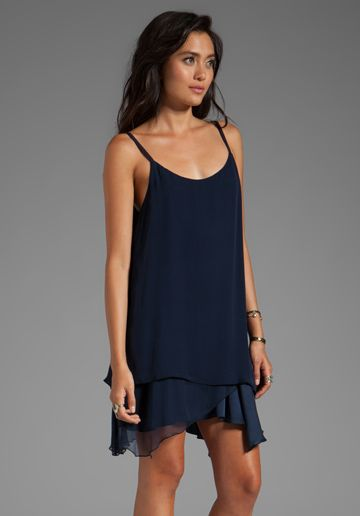 ALICE   OLIVIA Anika Layered Asymmetrical Dress in Sapphire -  Has asymmetrical hem by The Style Genome Project