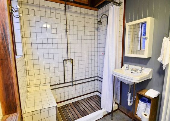 wood slat shower floor