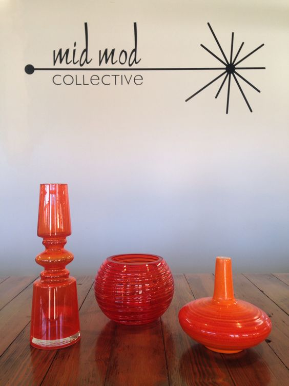 Orange is the new black! MCM Art glass accessories. Available now at Mid Mod Collective. Email midmodcollective@gmail.com for more info.