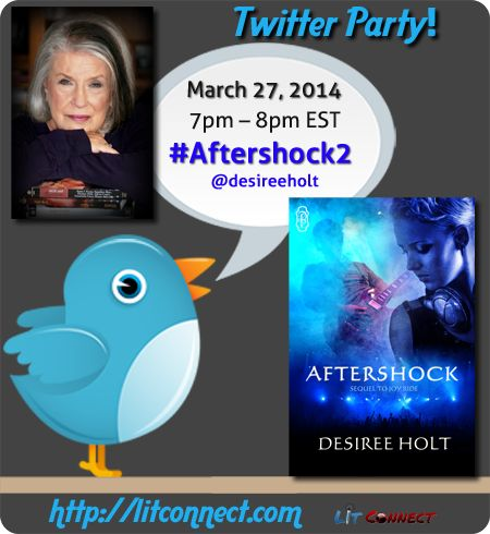 Join us for a Twitter chat w/ @Desiree Holt - 3/27 (7-8pm EST) #Aftershock2 #giveaway #eroticromance #rockband