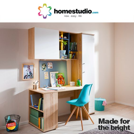 Kids need a dedicated study. #HomeStudio has come up with German made #StudySolutions that is specifically designed for your kid's comfort and convenience.  Visit http://homestudio.com/kids-room-furnit…/study-solutions.html for more. #Furniture #Comfort #Design #InteriorDesign #Kids #Study