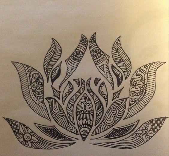 sharpie art - lottus - flower - doodles | Art | Pinterest ... Sharpie Art Flowers