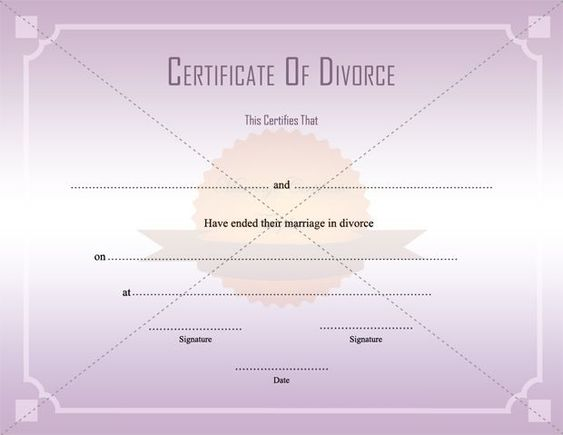 Divorce Decree Certificate Template Printable - divorce decree template
