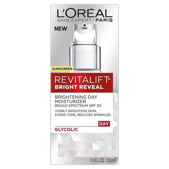 L'Oréal Paris Revitalift Bright Reveal Brightening Day Moisturizer with Spf 30 1 oz