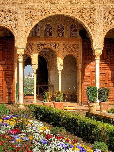Jardins de Generalife Alhambra, Granada, na provincia de Granada, Regiao…